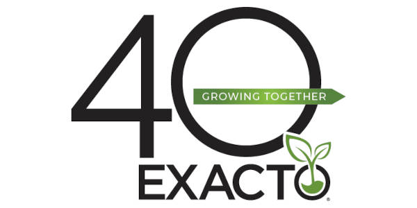 Exacto 40th Anniversary Logo - Growing Together
