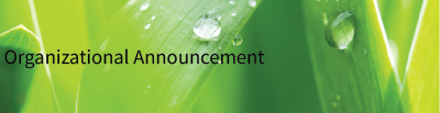 Organizational Announcement