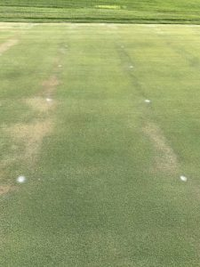Testing for the effectiveness of wetting agents on a turf field