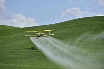 Fungicides can be applied by crop dusters