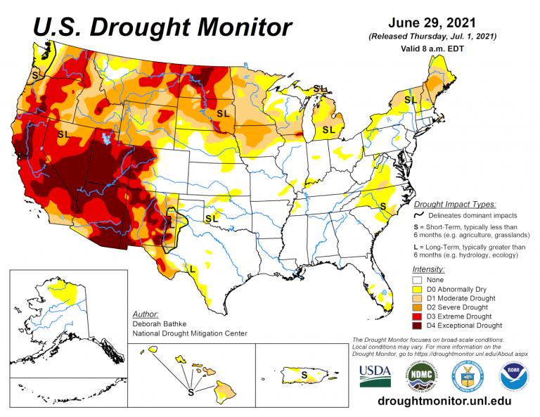US Drought Monitor June 29