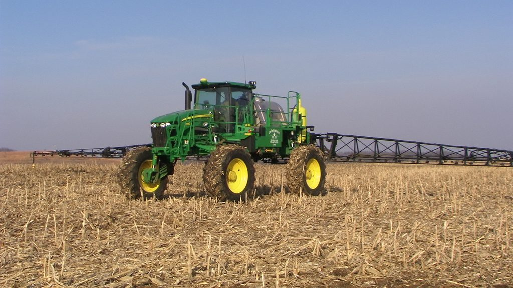 Apply fall herbicides in mid-late fall before the ground is frozen and when weeds are still growing and not already frosted off.